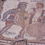 Mosaic of the gladiator Kourion