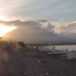 Sunset in Amed Bali