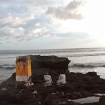 Religious celebration on Canggu's beach Bali