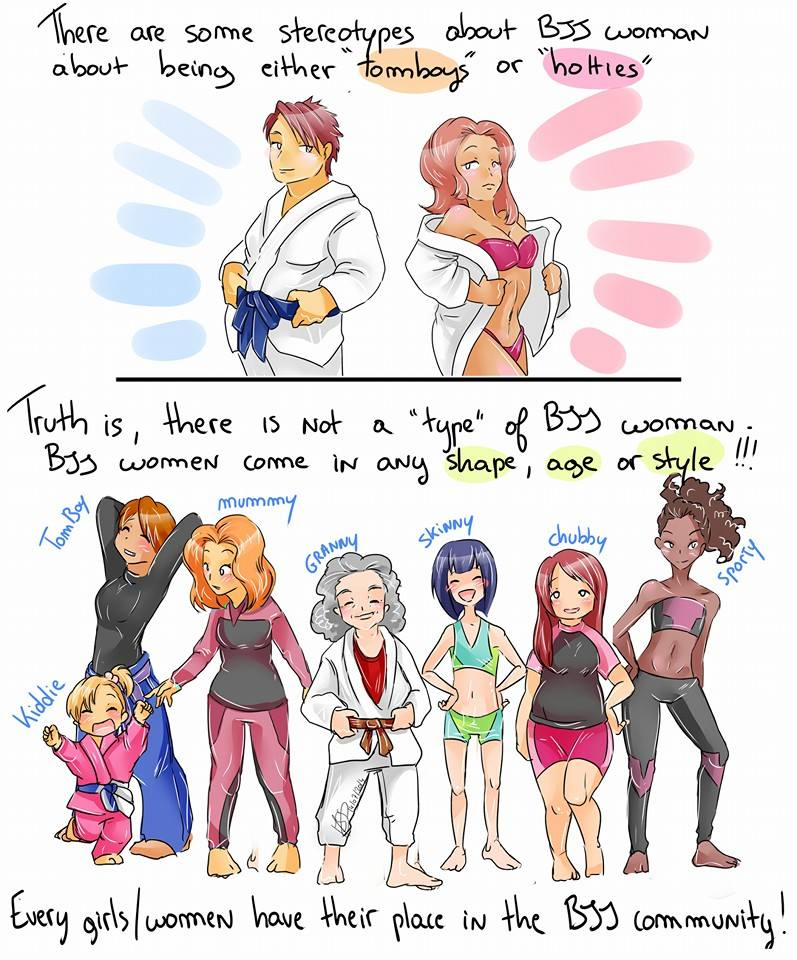 Mariste comics women and BJJ