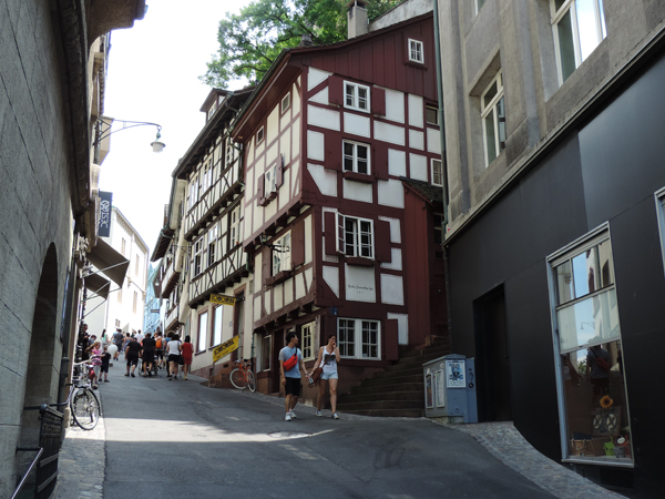 half-timbering house, historic centre Basel
