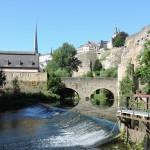 Les berges de l'Alzette dans le Grund Luxembourg