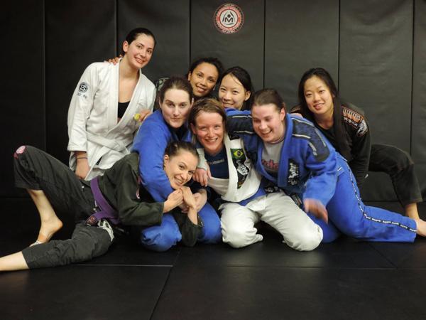 Brazilian jiu-jitsu team Maromba Academia Melbourne Australia women in Gi