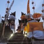 Cérémonie au temple Pura Batu Balong Bali