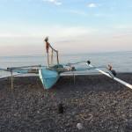 Bateau de pêcheur à Amed Bali