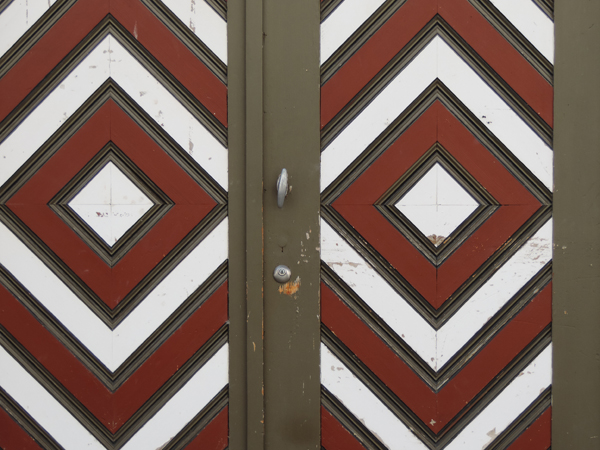 Vieille porte colorée, Bâle