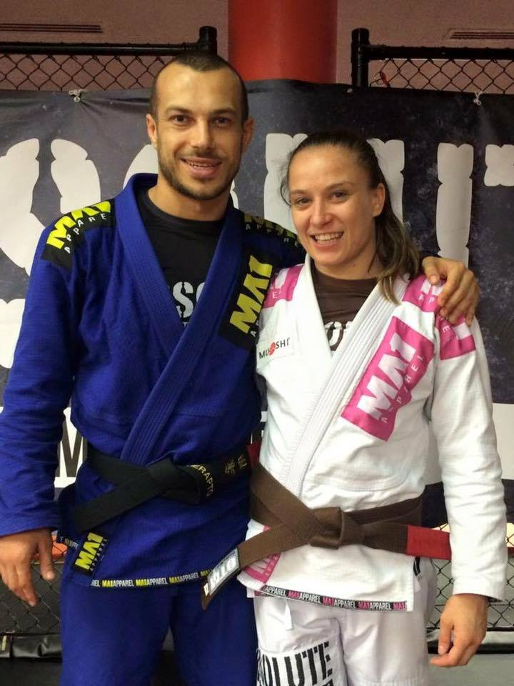 Livia Gluchowska and Lachlan Giles bjj absolute mma melbourne australie