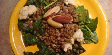 Art of BJJ recette salade de lentilles vertes anti syndrome prémenstruel femme jiu-jitsu brésilien